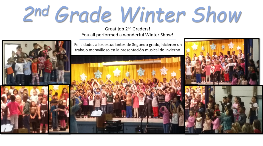 Great job 2nd Graders!  You all performed a wonderful Winter Show!